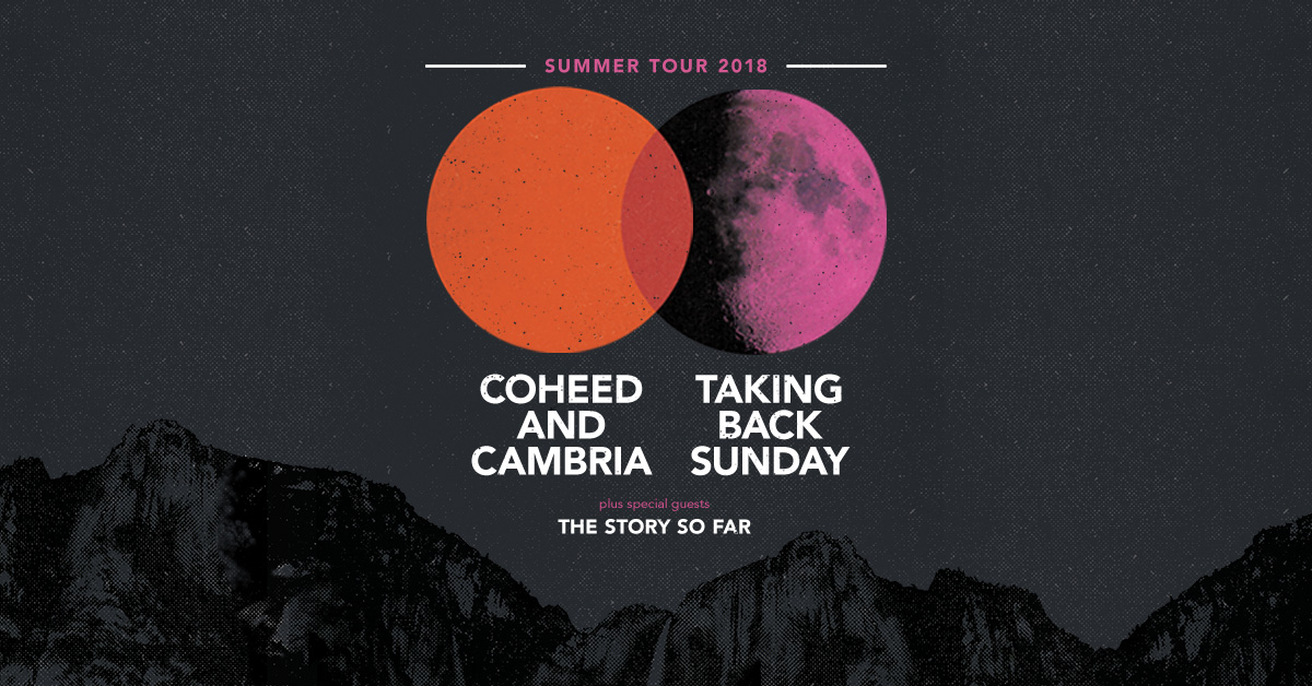 COHEED AND CAMBRIA TAKING BACK SUNDAY 2018 Summer Tour Ltd